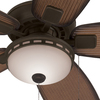 Harbor Breeze Oyster Cove 52-in Aged Bronze Downrod or Close Mount Indoor/Outdoor Ceiling Fan with Light Kit