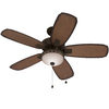Harbor Breeze 52-in Aged Bronze Downrod or Close Mount Indoor/Outdoor Ceiling Fan with Light Kit