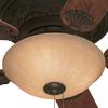 Harbor Breeze 52-in Specialty Bronze Flush Mount Indoor Ceiling Fan with Light Kit