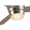 Harbor Breeze 44-in Brushed Nickel Flush Mount Indoor Ceiling Fan with Light Kit and Remote (3-Blade)