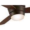 Harbor Breeze 44-in Oil-Rubbed Bronze Flush Mount Indoor Ceiling Fan with Light Kit and Remote (3-Blade)