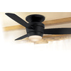 Harbor Breeze 44-in Matte Black Flush Mount Indoor Ceiling Fan with Light Kit and Remote (3-Blade)