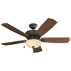 Harbor Breeze Echolake 52-in Downrod or Close Mount Indoor/Outdoor Ceiling Fan with Light Kit