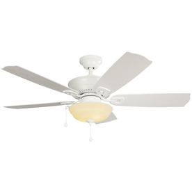 Shop Harbor Breeze Echolake 52 In White Downrod Or Close Mount Indoor Outdoor Ceiling Fan With