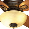 allen + roth 32-in Dark Oil-Rubbed Bronze Downrod or Close Mount Indoor Ceiling Fan with Light Kit (4-Blade)