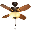 allen + roth 32-in Dark Oil-Rubbed Bronze Downrod or Close Mount Ceiling Fan with Light Kit (4-Blade)