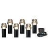 Portfolio 6-Light Black Low Voltage Halogen Path Lights Kit
