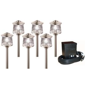 Portfolio Brushed Nickel Path Light Kit