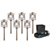 Portfolio 6-Light Brushed Nickel Low Voltage Path Lights Kit