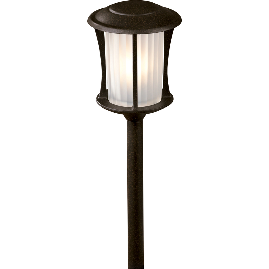 Shop portfolio landscape bronze low voltage path light at for Low voltage walkway lighting sets