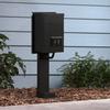 shop portfolio 18 3 in aluminum landscape lighting transformer stand. Black Bedroom Furniture Sets. Home Design Ideas