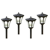 allen + roth 4-Pack Textured Black Solar-Powered LED Path Lights