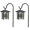 allen + roth 2-Pack Textured Black Solar-Powered LED Path Lights