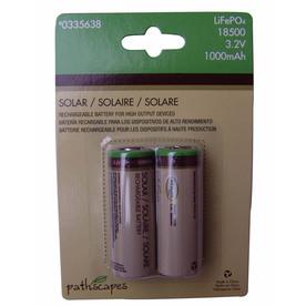 18500 3.2-Volt Rechargeable Lithium Landscape Lighting Batteries