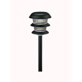 shop portfolio black solar powered led path light at