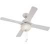 Harbor Breeze 42-in White Downrod or Close Mount Indoor Ceiling Fan with Light Kit (4-Blade)