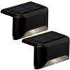 Portfolio 2-Pack Black Solar-Powered LED Path Lights