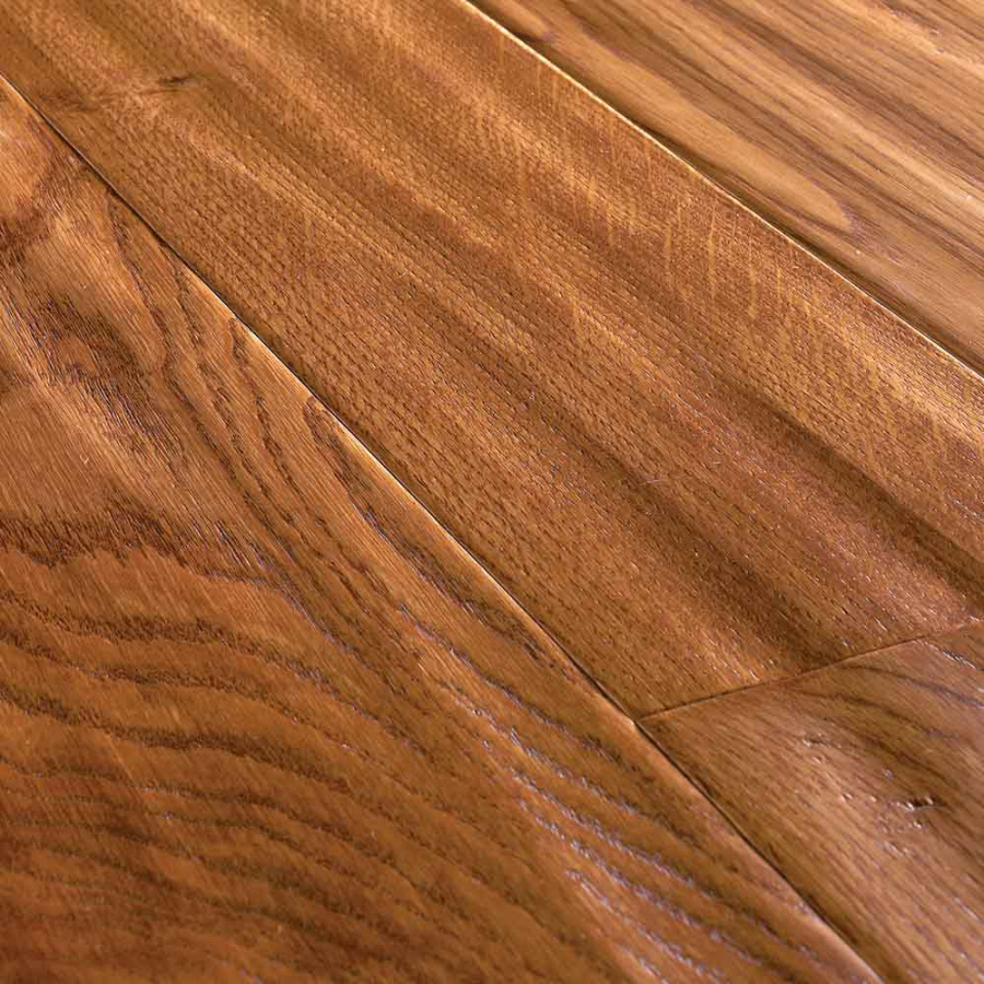 Shop natural floors by usfloors domestic handscraped 4 9 for Natural oak wood flooring