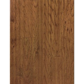 Natural Floors by USFloors Domestic Handscraped 4.92-in W Prefinished Hickory Locking Hardwood Flooring (Saddle Brown)