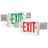 Utilitech Red/Green LED Hardwired Exit and Emergency Light