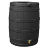 Rain Wizard 50-Gallon Black Recycled Plastic Rain Barrel with Spigot