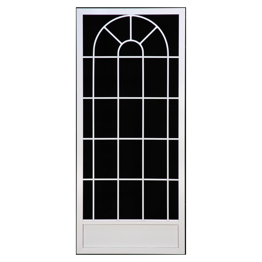 Shop suntech doors 38 in white aluminum screen door at for Aluminum screen doors