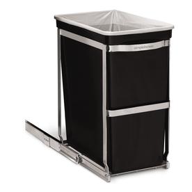simplehuman 30-Liter Black Trash Can