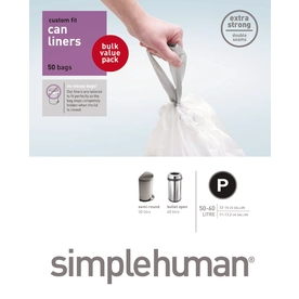 simplehuman Code P Custom Fit 50-Count 16-Gallon Trash Bags