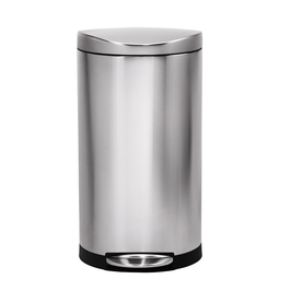 simplehuman 30-Liter Fingerprint Proof Brushed Stainless Steel Trash Can