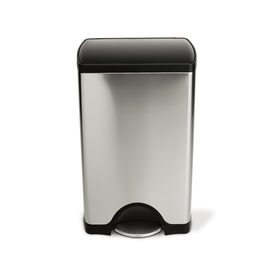 simplehuman 38-Liter Brushed Stainless Steel Indoor Garbage Can