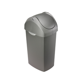 simplehuman Gray Indoor Garbage Can