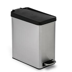 simplehuman 10-Liter Brushed Stainless Steel Indoor Garbage Can