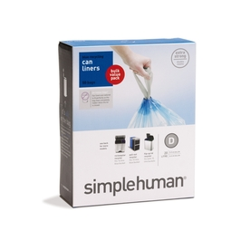 50 pack simplehuman® CW0211 simplehuman code D custom fit recycling can liners