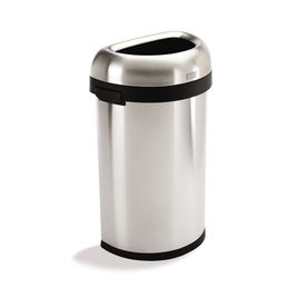 simplehuman 60-Liter Brushed Stainless Steel Trash Can