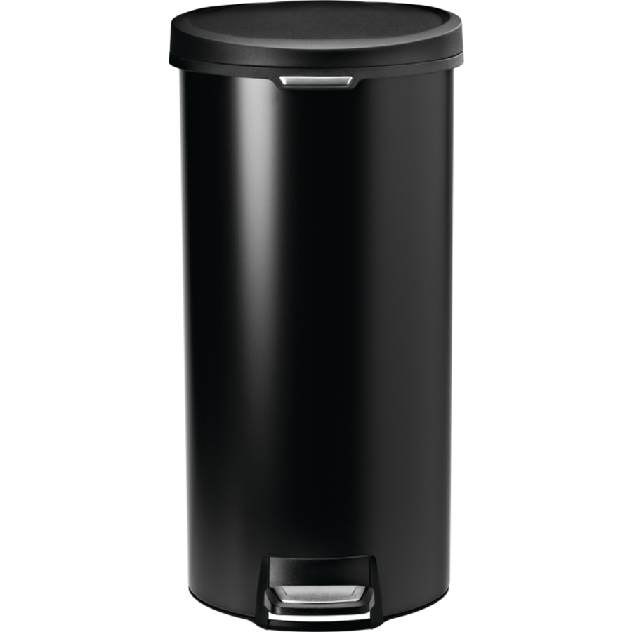 Shop Simplehuman 30 Liter Black Stainless Steel Indoor