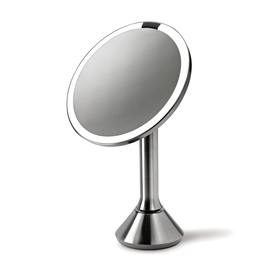 Shop simplehuman Stainless Steel Magnifying Countertop Vanity Mirror with Light at Lowes.com