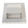 Severe Weather 8-in x 9-in White Dryer Exhaust Mounting Block