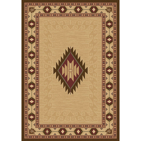 Balta 5-ft 3-in x 7-ft 6-in Beige Cheyenne Area Rug