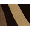 Balta Modern-Chocolate Ripple Rectangular Brown Transitional Woven Area Rug (Common: 5-ft x 7-ft; Actual: 5.25-ft x 7.41-ft)