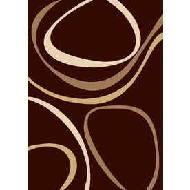 Balta 5-ft 3-in x 7-ft 5-in Chocolate Ripple Area Rug