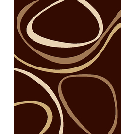Balta 7-ft 10-in x 10-ft 8-in Chocolate Ripple Area Rug