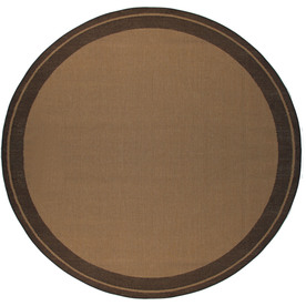 Balta Decora 6-ft 9-in x 6-ft 9-in Round Tan Border Indoor/Outdoor Area Rug