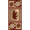 Balta National Preserve Beige Rectangular Indoor Machine-Made Lodge Throw Rug (Common: 2 x 4; Actual: 23-in W x 43-in L)