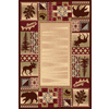 Balta National Preserve Beige Rectangular Indoor Machine-Made Lodge Area Rug (Common: 4 x 6; Actual: 47-in W x 66-in L)