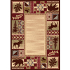 Balta National Preserve Beige Rectangular Indoor Machine-Made Lodge Area Rug (Common: 5 x 7; Actual: 63-in W x 89-in L)