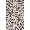 Balta Zebra Squares 24-in x 43-in Rectangular White Accent Rug