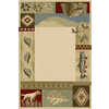 Balta Rustic Lodge-Outdoor Sportsman Rectangular Indoor Woven Area Rug (Common: 4 x 6; Actual: 47-in W x 66-in L)
