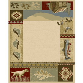 Balta Rustic Lodge-Outdoor Sportsman Rectangular Indoor Woven Area Rug (Common: 8 x 10; Actual: 94-in W x 120-in L)