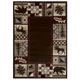 Balta American Rhythm 3-ft 11-in x 5-ft 7-in Rectangular Tan Border Area Rug