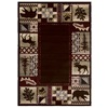 Balta National Preserve Beige Rectangular Indoor Machine-Made Lodge Area Rug (Common: 8 x 11; Actual: 94-in W x 128-in L)